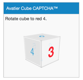 Cube Captcha